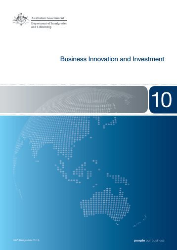Booklet 10, Business Innovation and Investment - Department of ...