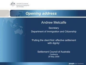 SCoA Secretary slides - Department of Immigration & Citizenship