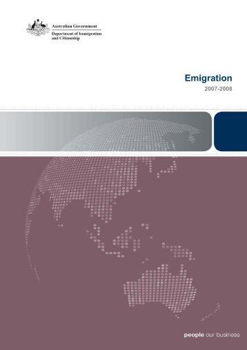 Emigration 2007-2008 Australia - Department of Immigration ...
