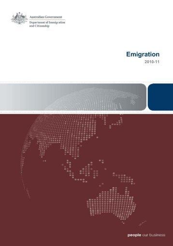 Emigration 2010–2011 Australia - Department of Immigration ...