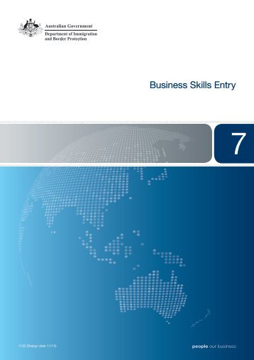 Business Skills Entry - Department of Immigration & Citizenship