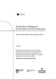 Australia's Diaspora: - Department of Immigration & Citizenship