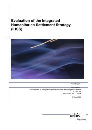 Evaluation of the Integrated Humanitarian Settlement Strategy (IHSS)