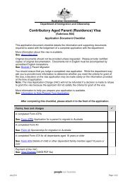 Contributory Aged Parent (Residence) Visa - Department of ...