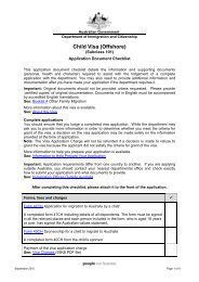 Application Document Checklist 101 - Department of Immigration ...
