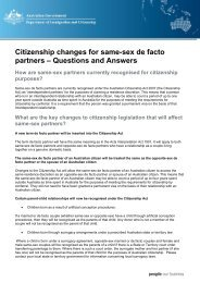 Citizenship changes for same-sex de facto partners – Questions and ...