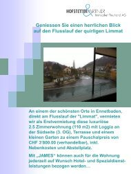 Folie 1 - Hofstetter & Partner Immobilien Treuhand AG