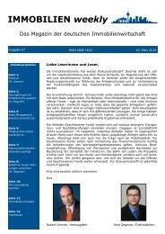 IMMOBILIEN weekly Ausgabe 57 vom 10 März 2010