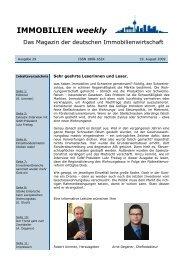 IMMOBILIEN weekly Ausgabe 29 vom 19 August 2009