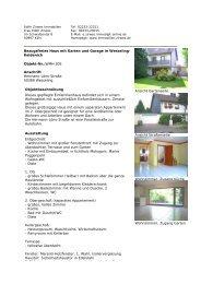 Bezugsfreies Haus mit Garten und Garage in ... - Zirwes Immobilien