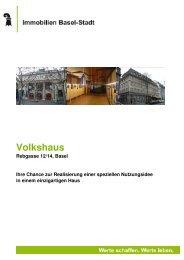 Volkshaus - Immobilien Basel-Stadt