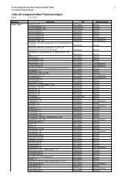 Liste_Liegenschaften FV 2011 - Immobilien Basel-Stadt