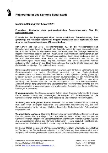 02FD Baurechtsvertrag - Immobilien Basel-Stadt - Kanton Basel-Stadt