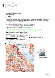 Lageplan FD Immobilien Basel-Stadt