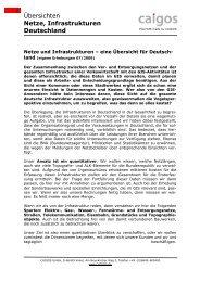 Übersichten Netze, Infrastrukturen Deutschland - Caigos GmbH
