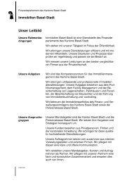 Unser Leitbild - Immobilien Basel-Stadt - Kanton Basel-Stadt