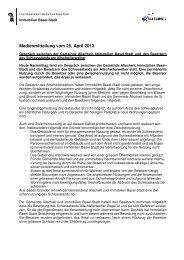 MM Besetzung Allschwilerweiher - Immobilien Basel-Stadt