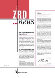 Editorial ZRD - Immobilien Basel-Stadt