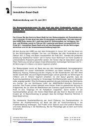 MM Kispi Investorenausschreibung 10 06 11 - Immobilien Basel ...