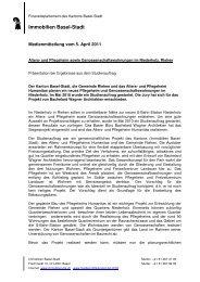MM Ausstellung Niederholz 05 04 11 - Immobilien Basel-Stadt