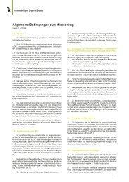 Allgemeine Bedingungen zum Mietvertrag - Immobilien Basel-Stadt