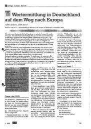 Wertermittlung in Deutschland auf dem Weg nach Europa