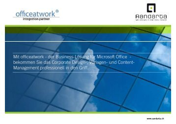 Mit officeatwork - der Business-Lösung für Microsoft ... - Immoinfo24