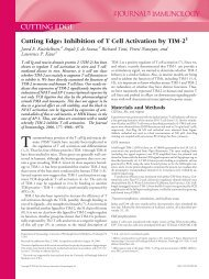 Cutting Edge: Inhibition of T Cell Activation by TIM-2 - Pitt Flow ...