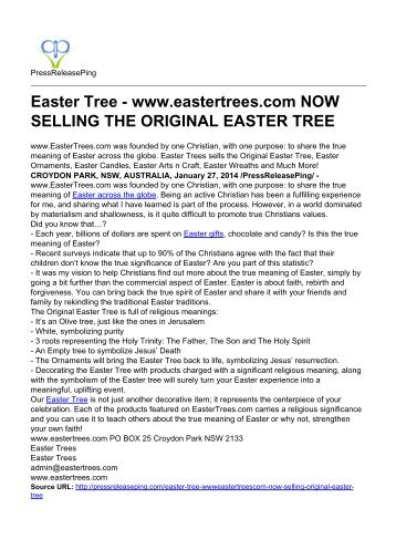 Easter Tree - www.eastertrees.com NOW SELLING THE ORIGINAL EASTER TREE