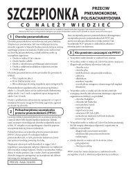 VIS Pneumococcal Polysaccharide vaccine - Polish