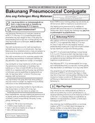 Pneumococcal Conjugate Vaccine - Tagalog