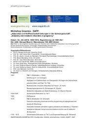 www.greentox.org www.sappinfo.ch Workshop Greentox - SAPP: