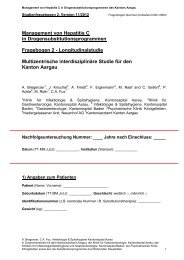 Fragebogen 2 - Longitudinalstudie - Kantonsspital Aarau