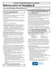 VIS Hepatitis B - Tagalog