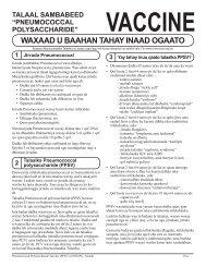 VIS Pneumococcal Polysaccharide vaccine - Somali