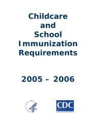 2005-2006 State Immunization Requirements