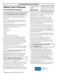 Influenza Vaccine 2012 - 2013 Inactivated - Haitian Creole