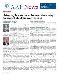 Adhering to vaccine schedule is best way to protect children from ...