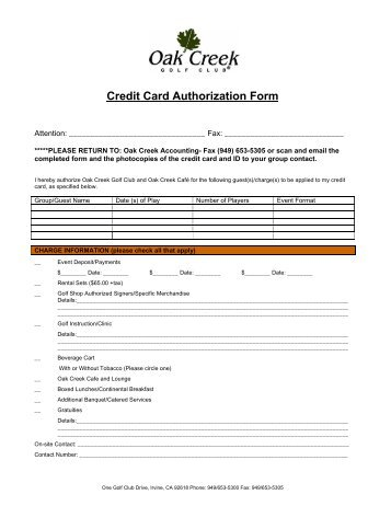 Credit Card Authorization Form  Zehrer Gastronomie Gmbh