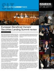 European Beneficial Owners' Securities Lending Summit review - IMN
