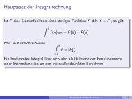 Hauptsatz der Integralrechnung - imng