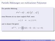 Partielle Ableitungen von multivariaten Polynomen - imng