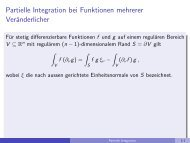 Partielle Integration bei Funktionen mehrerer Veränderlicher - imng