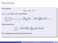 Binomialreihe - imng