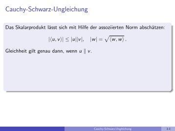 Cauchy-Schwarz-Ungleichung - imng