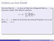 Verfahren von Gram-Schmidt - imng