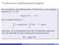 Transformation mehrdimensionaler Integrale - imng