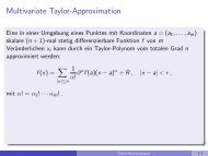Multivariate Taylor-Approximation - imng