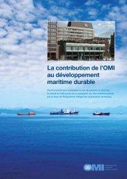 La contribution de l'OMI au développement maritime durable - IMO