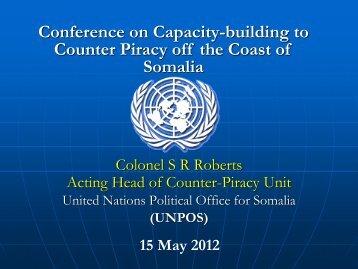 UNPOS Capacity Building - IMO